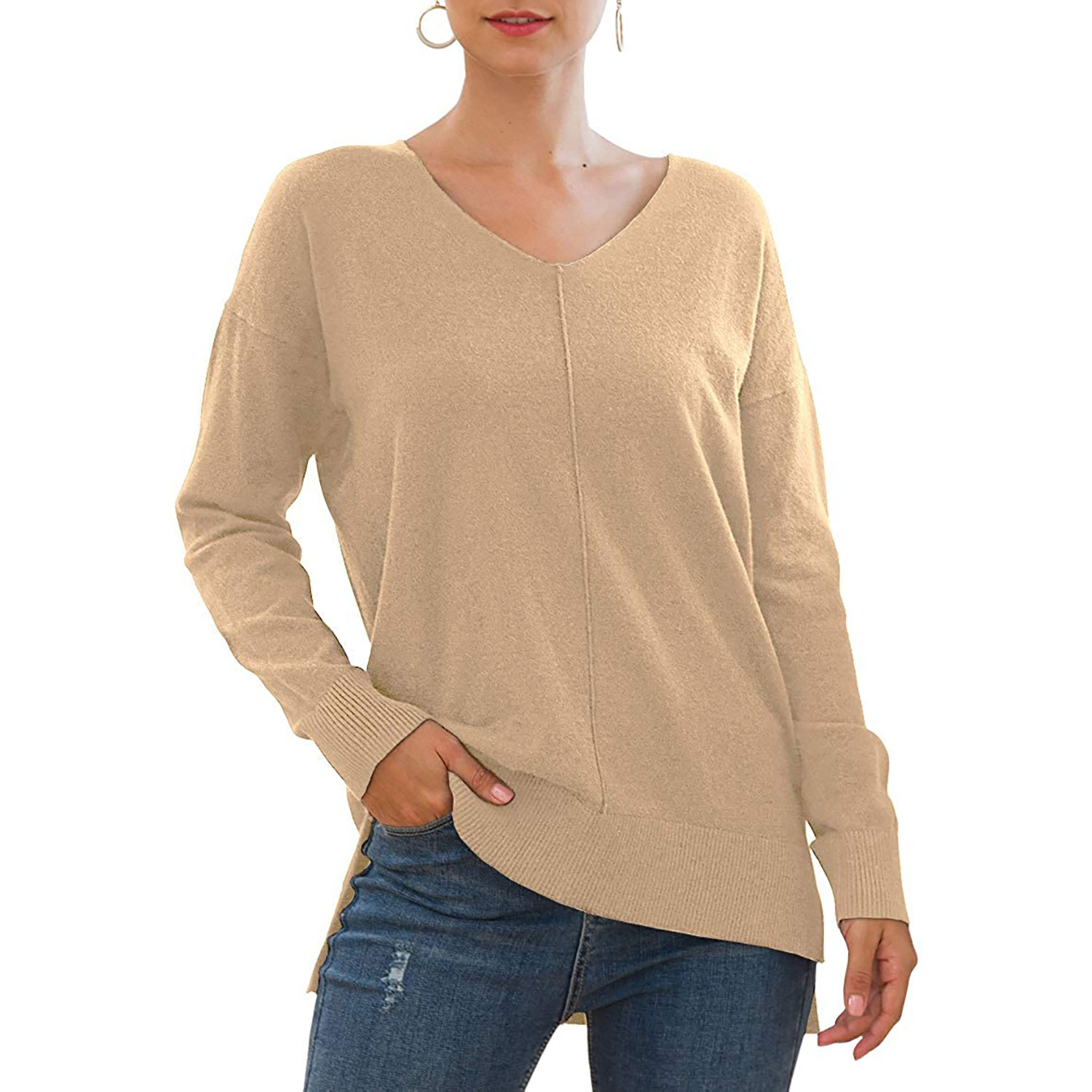 Jouica v-neck batwing sleeve sweater