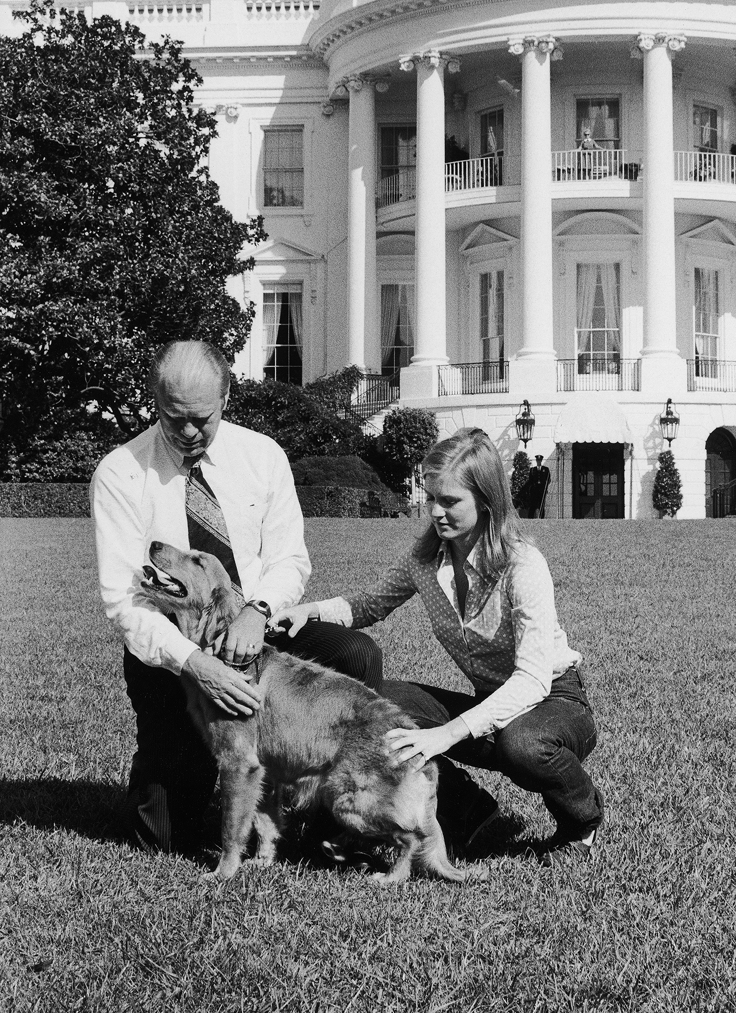 Gerald Ford and his daughter Susan Ford