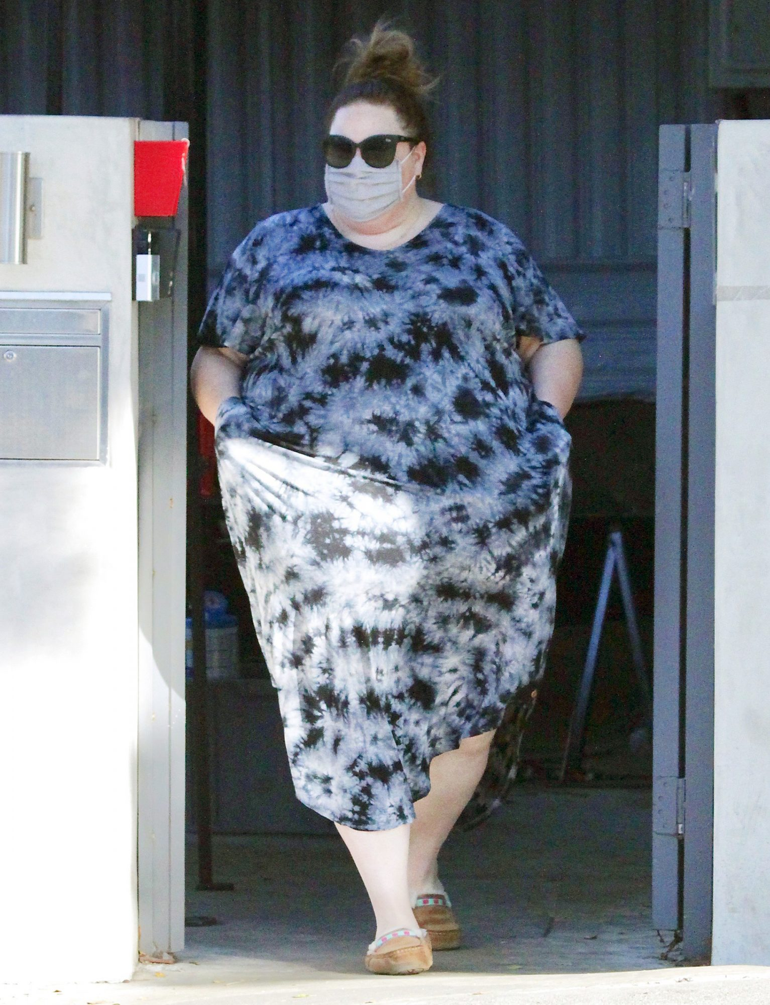 Chrissy Metz Seen Running Errands Without a Ring She Was Seen Wearing Days Earlier Which Sparked Engagement Rumors.