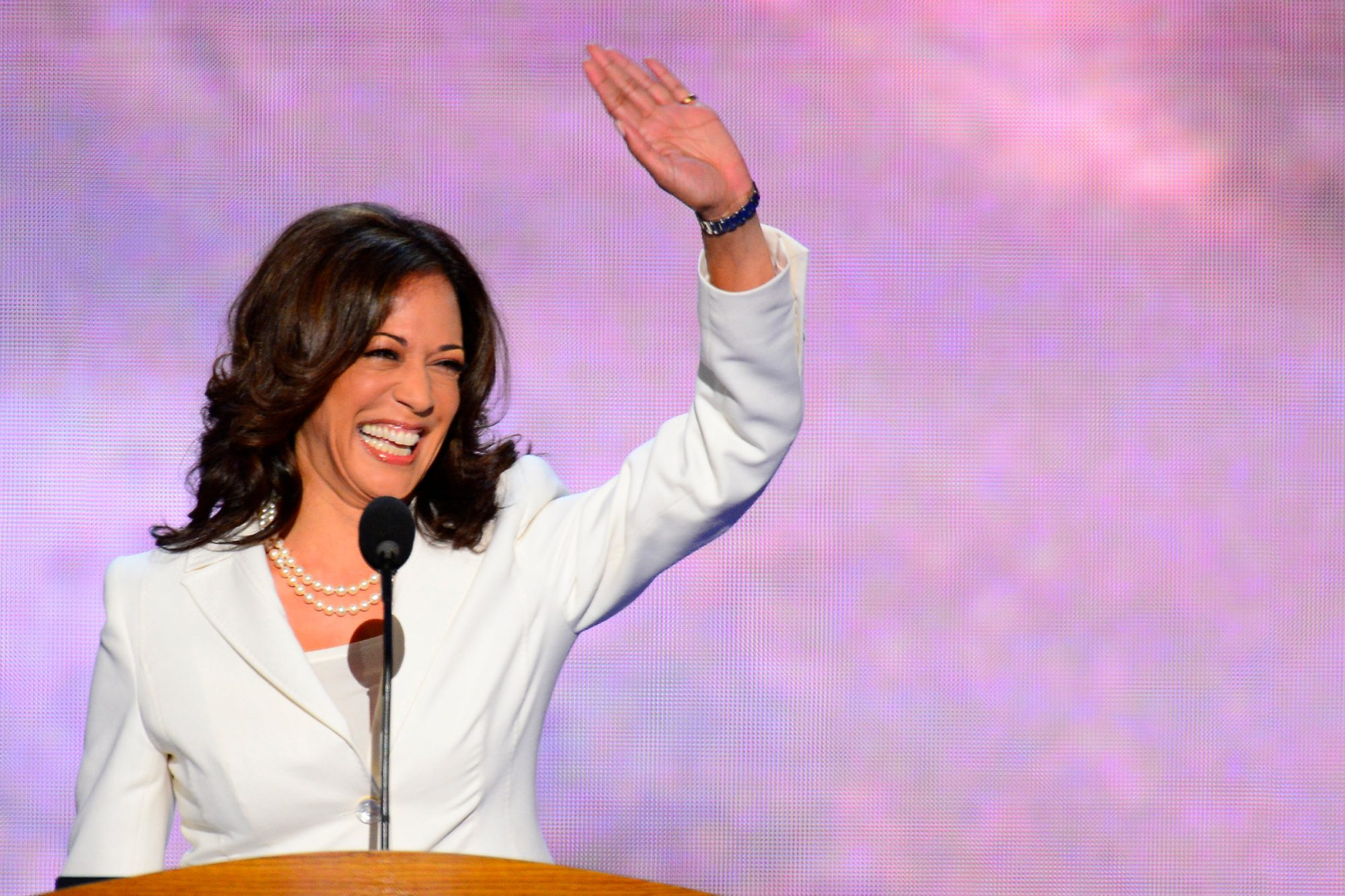 California Attorney General Kamala D. Harris speaks on the second night of the 2012 Democratic National Convention at Time Warner Cable Arena, Wednesday, September 5, 2012 in Charlotte, North Carolina