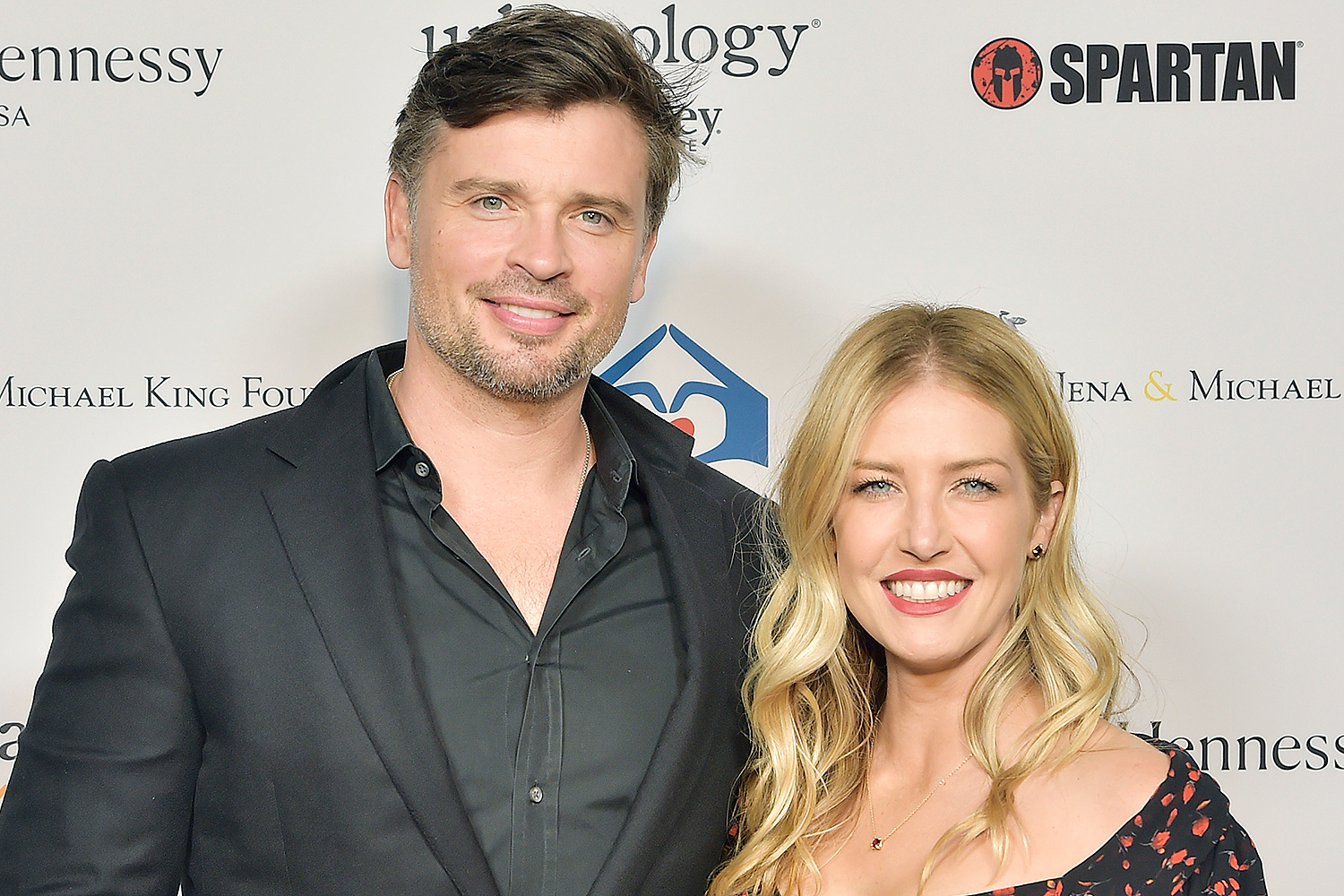 Tom Welling and his wife Jessica