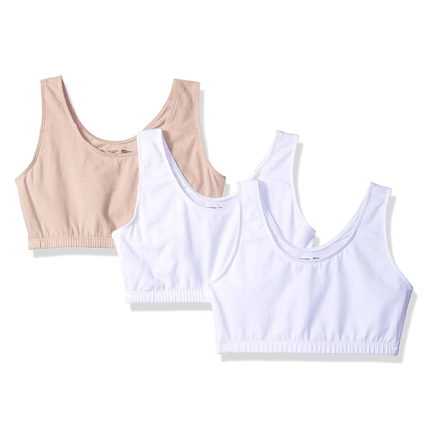 Fruit of the Loom Women's Built Up Tank Style Sports Bra, 3-Pack