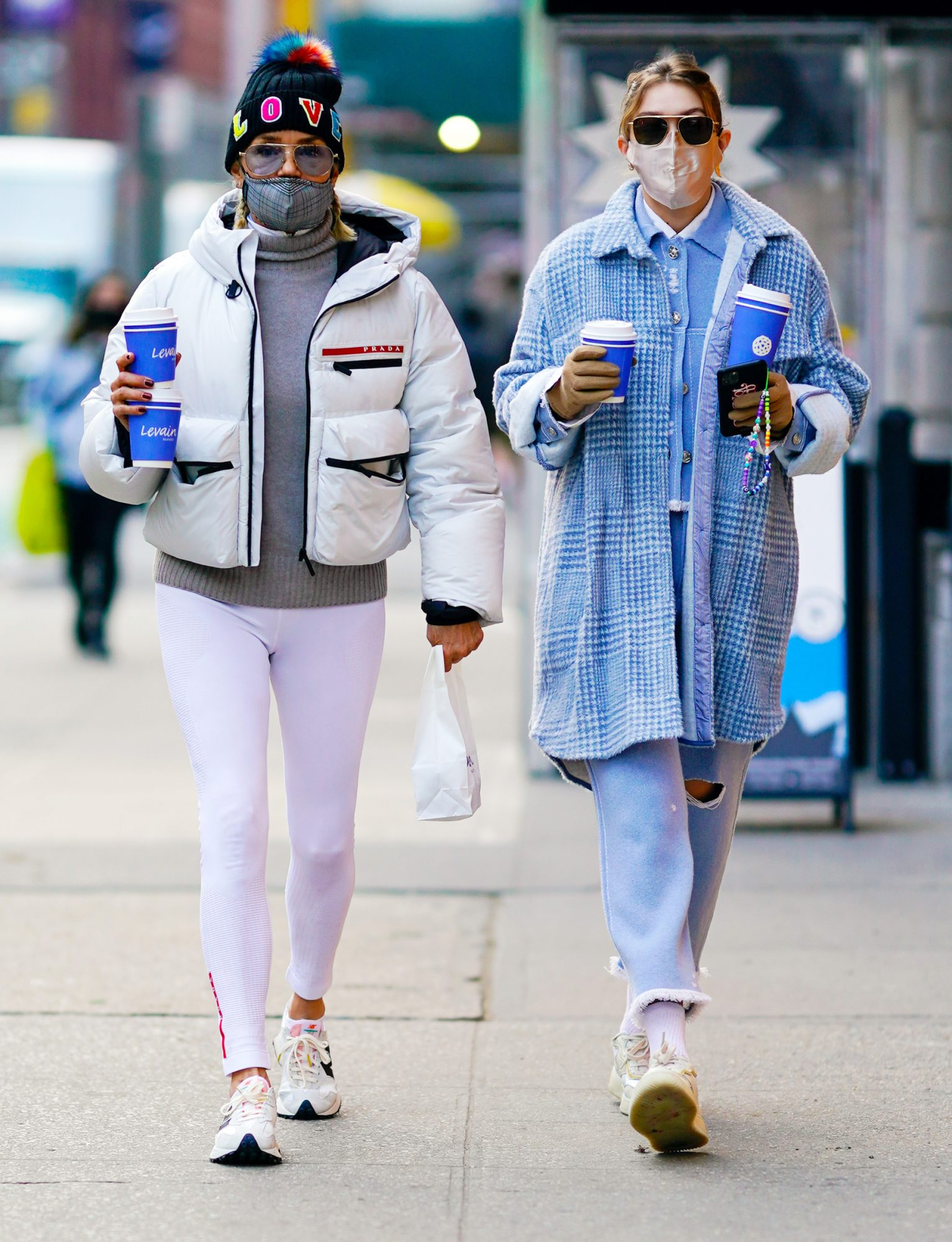 Gigi Hadid and Yolanda Hadid are Pictured Out on a Coffee Run in New York City.