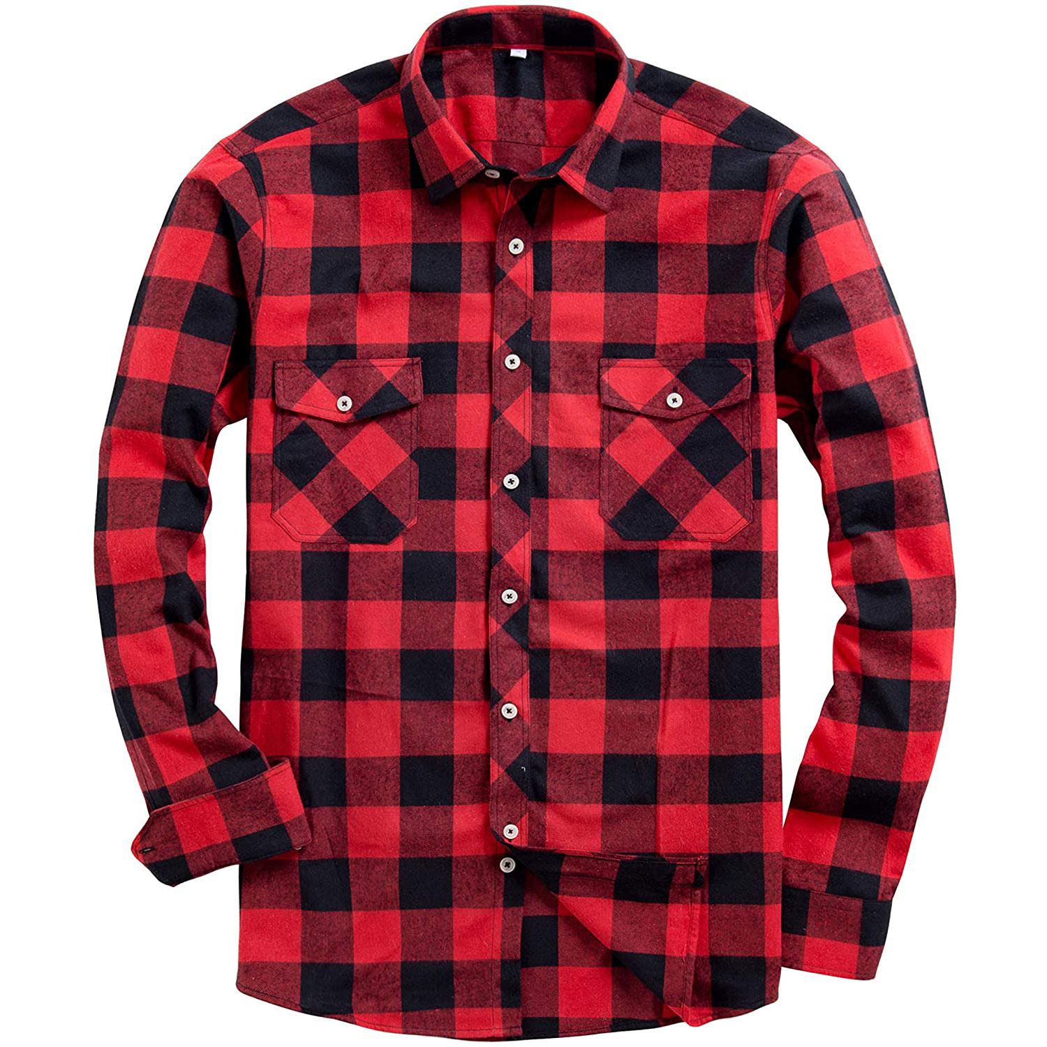Alimens and Gentle Button Down Flannel Shirt