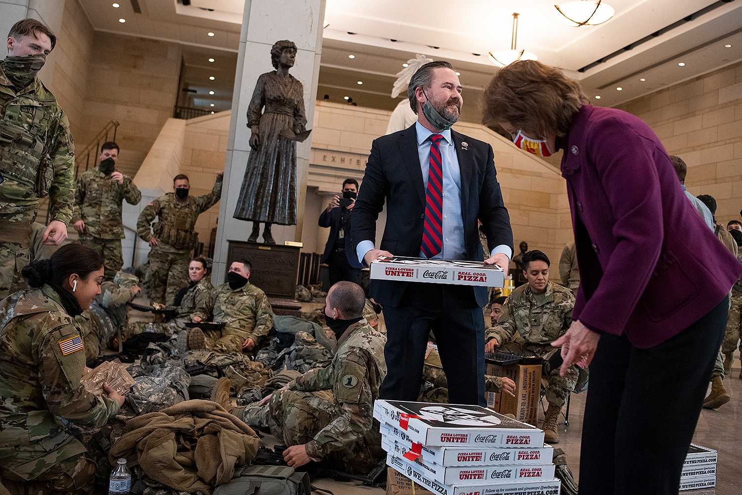 National Guard pizza