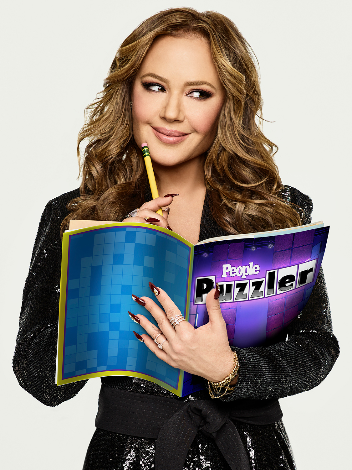 Leah Remini hosts PEOPLE Puzzler