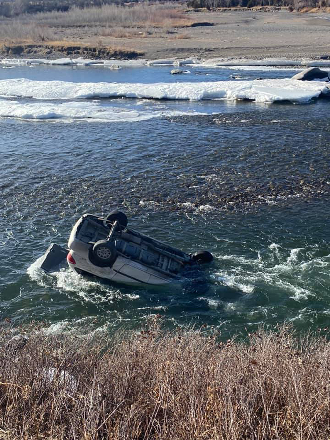 Montana Woman Rescued After Her Car Is Found Upside-Down in Yellowstone River
