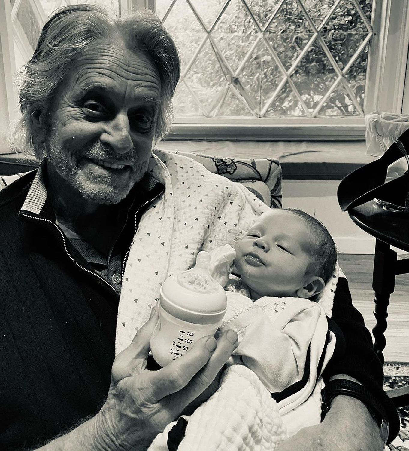 Michael Douglas and his grandson Ryder