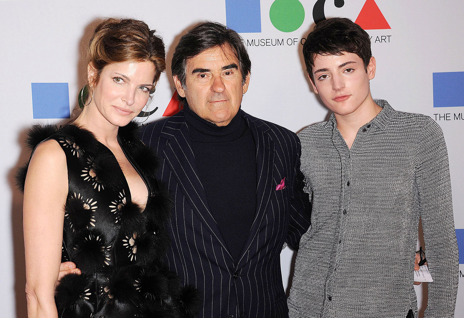 Stephanie Seymour and Peter Brant son