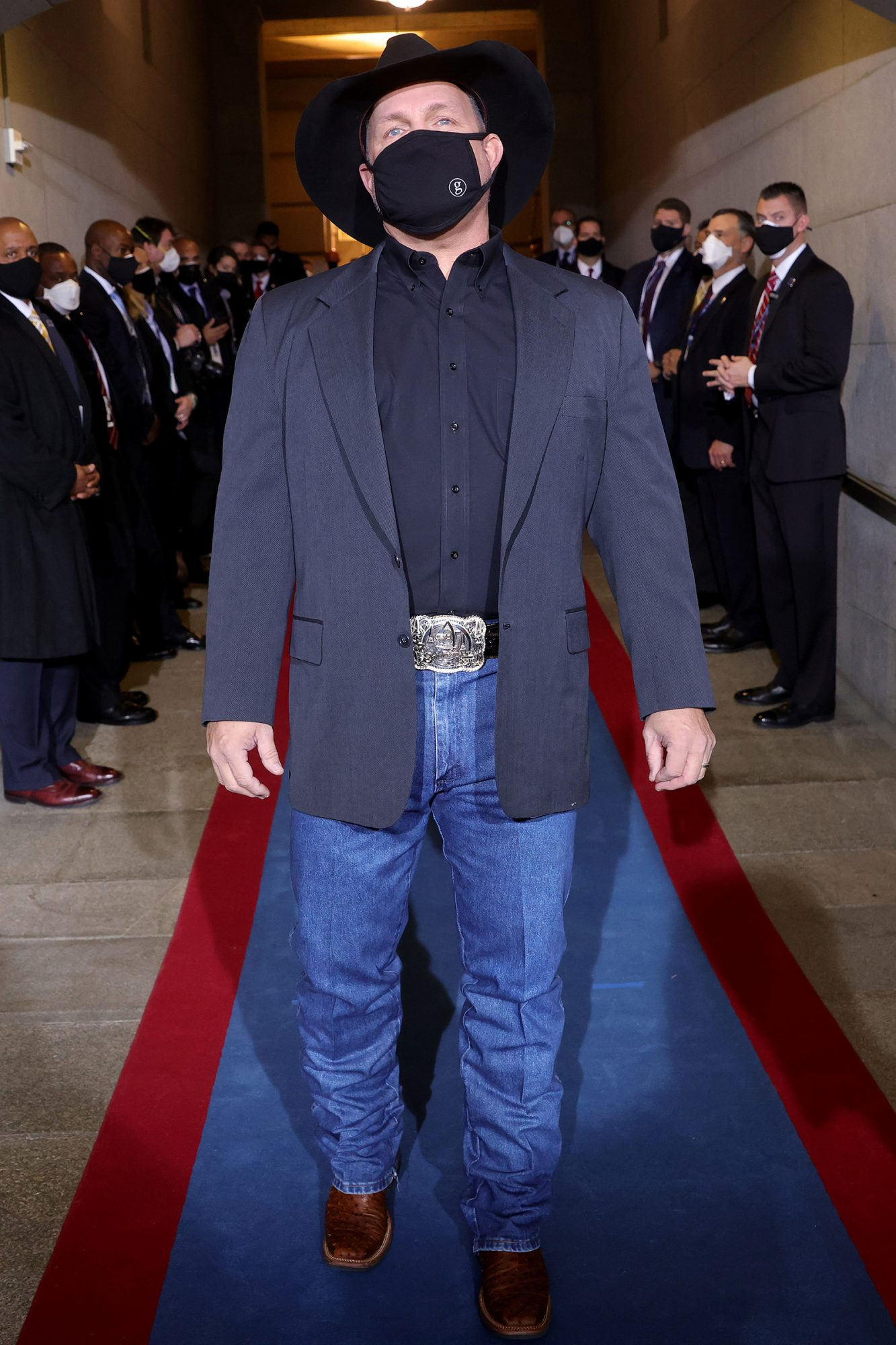 Garth Brooks performs at the inauguration of U.S. President Joe Biden on the West Front of the U.S. Capitol on January 20, 2021