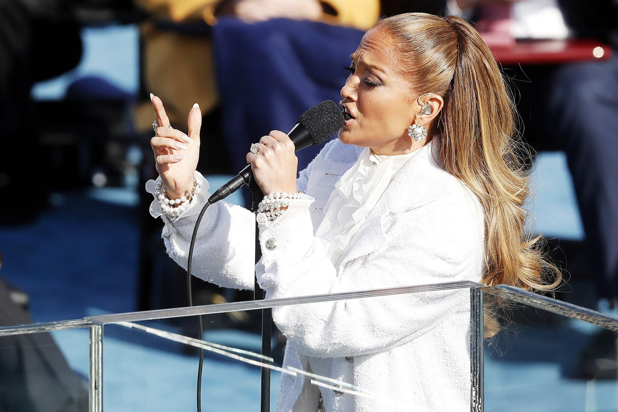 Jennifer Lopez sings 'This Land is Your Land' during the inaugural ceremony for President-elect Joe Biden and Vice President-elect Kamala Harris on the West Front of the U.S. Capitol in Washington