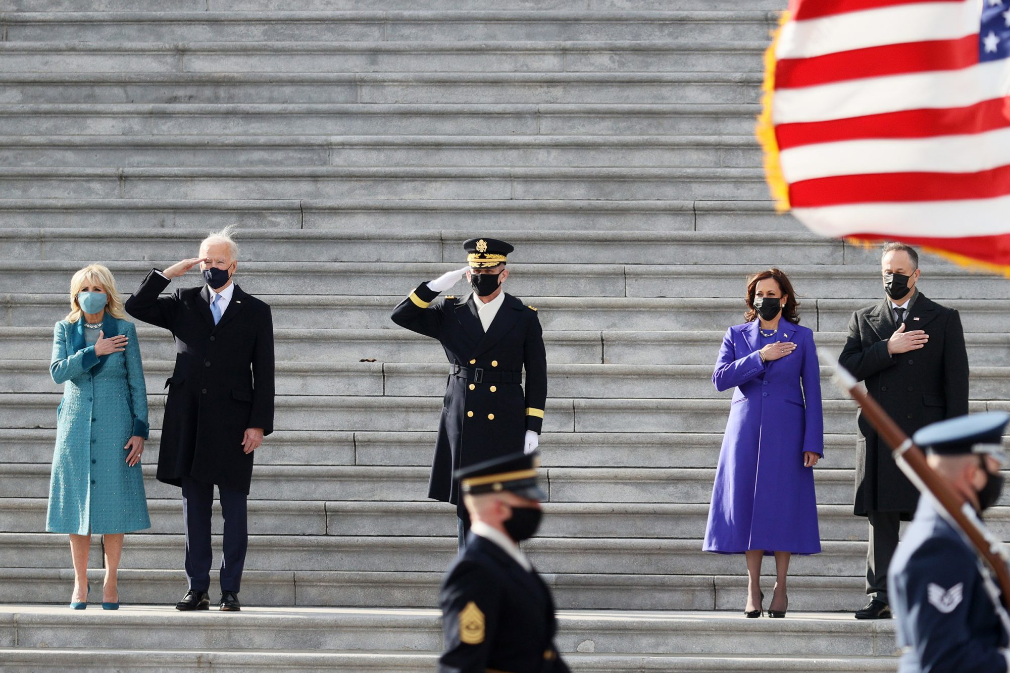 Joe Biden on the West Front of the U.S. Capitol on January 20, 2021 in Washington, DCU.