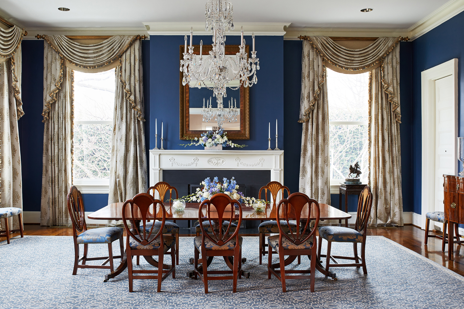 Interiors of the Vice President's newly remodeled residence in Washington, DC