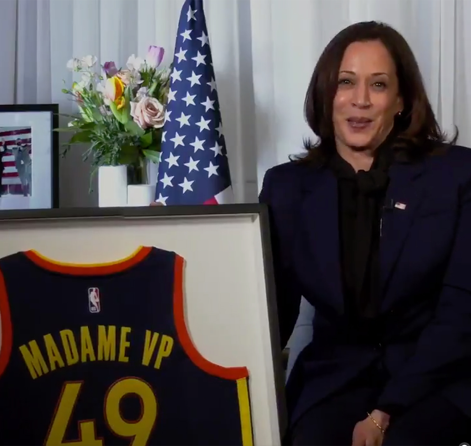 Kamala Harris Golden State Warriors
