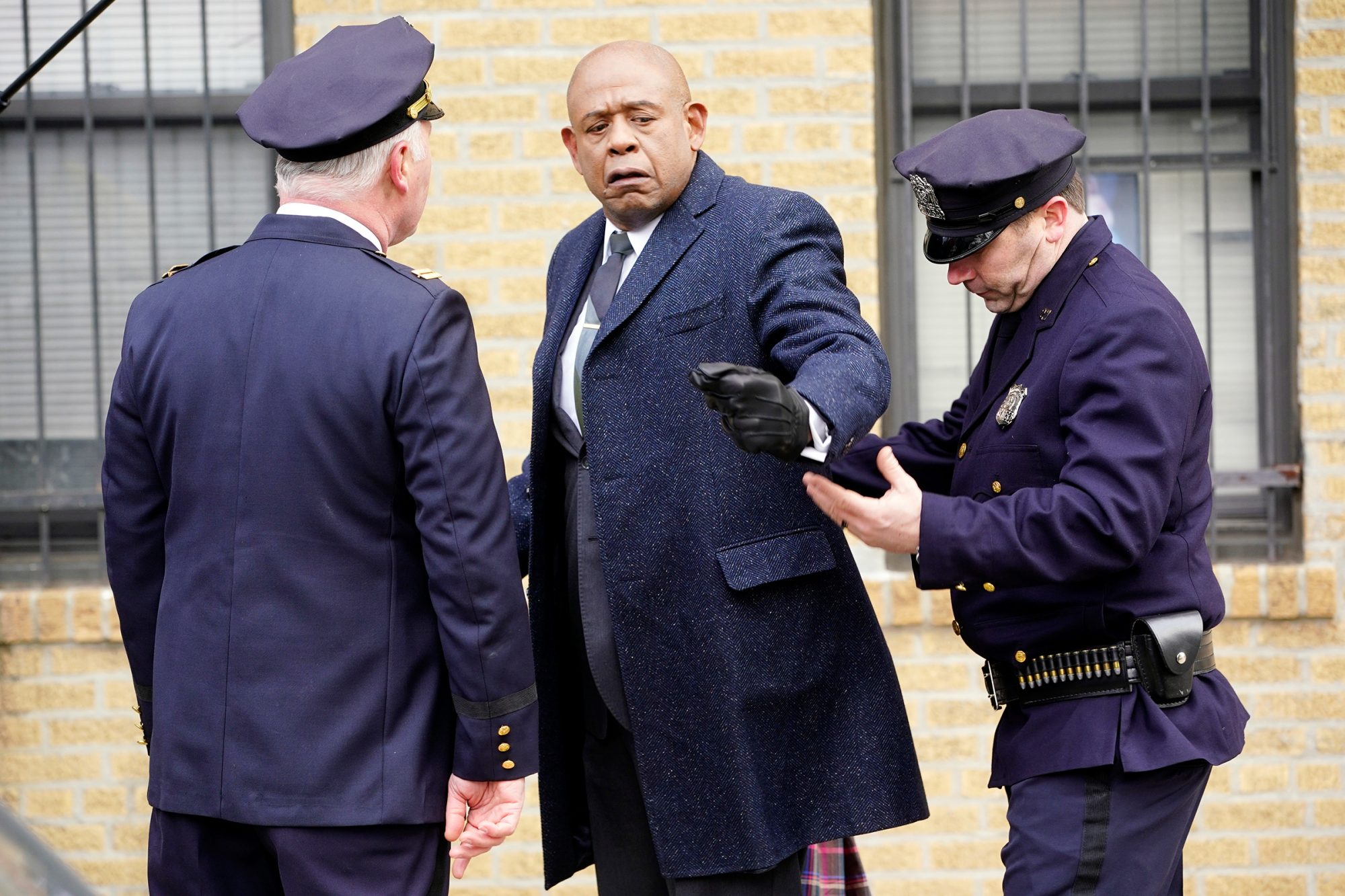 """Forrest Whitaker Filming """"Godfather Of Harlem"""" In Brooklyn"""