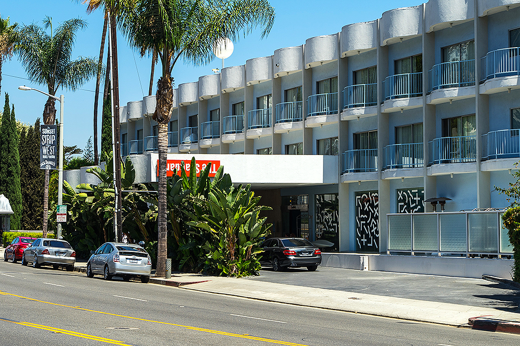 A view of The Standard, Hollywood Hotel in West Hollywood