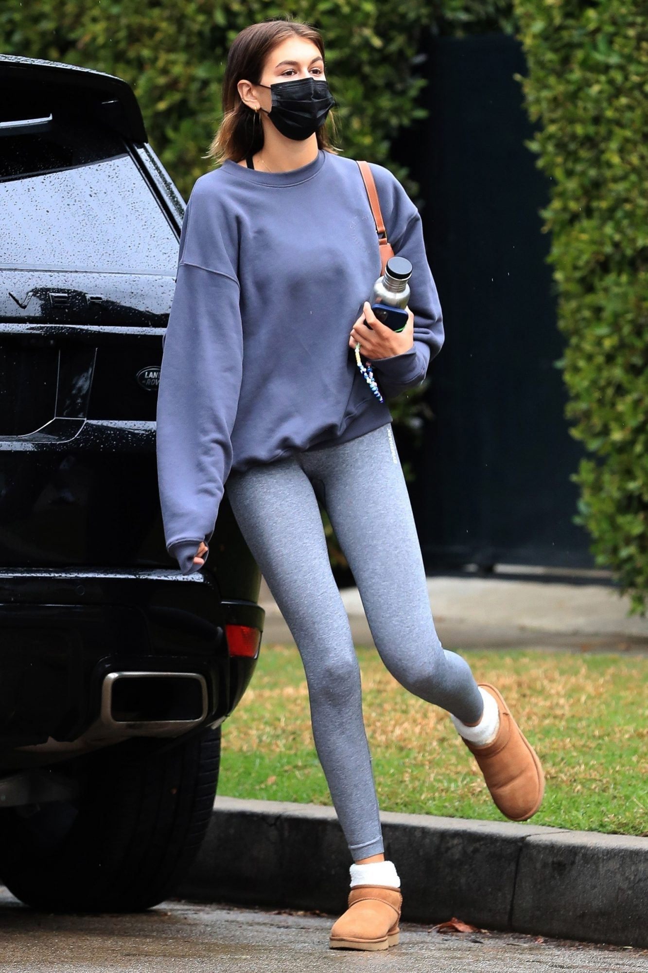 Kaia Gerber wraps up a morning workout session