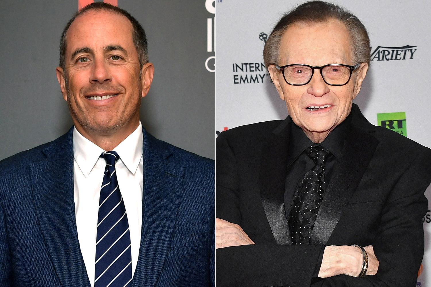 Jerry Seinfeld and Larry King