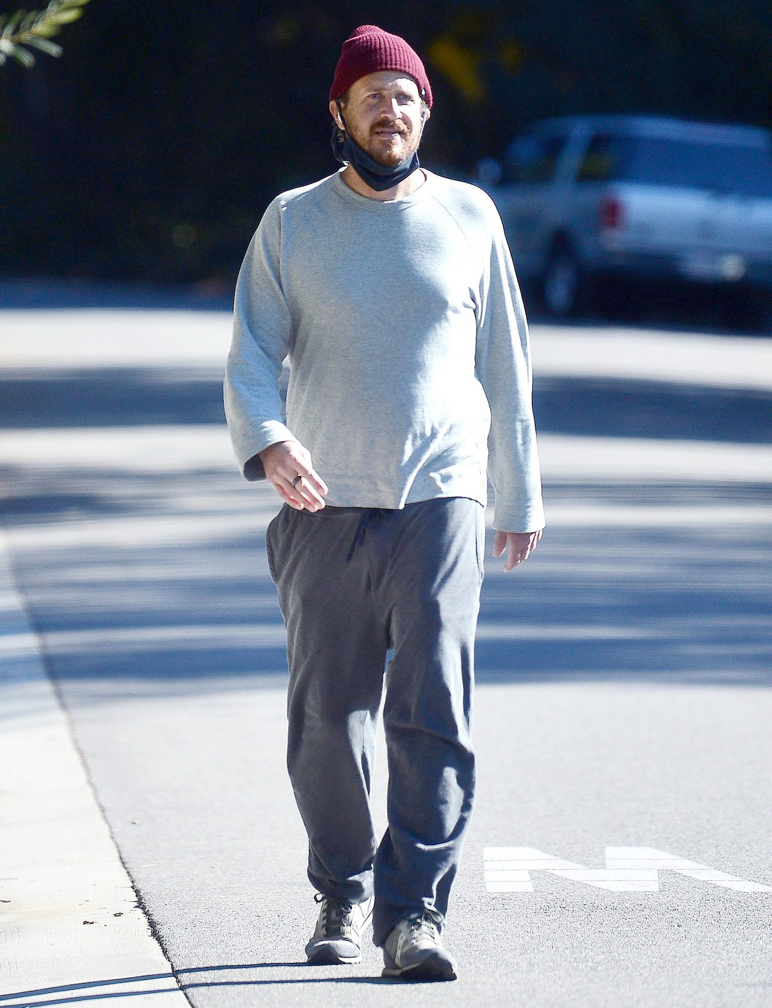 Jason Segel is Nearly Unrecognizable as He Steps Out For a Stroll in Los Angeles.