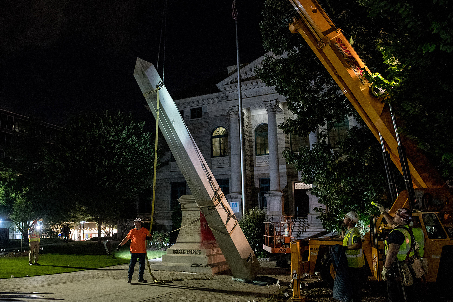 Confederate monument removed