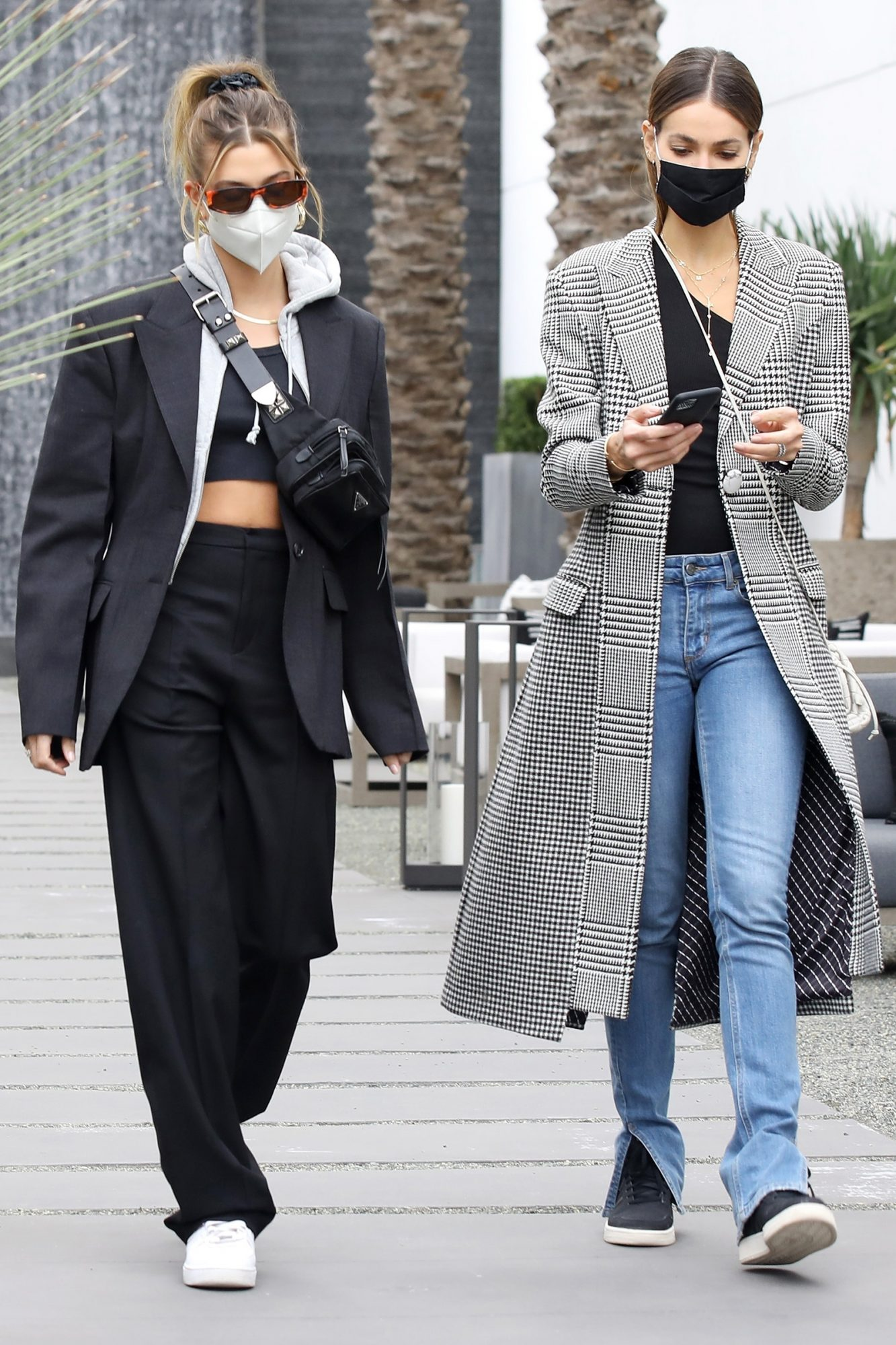 Hailey Bieber goes furniture shopping with her model friend Sara Sampaio