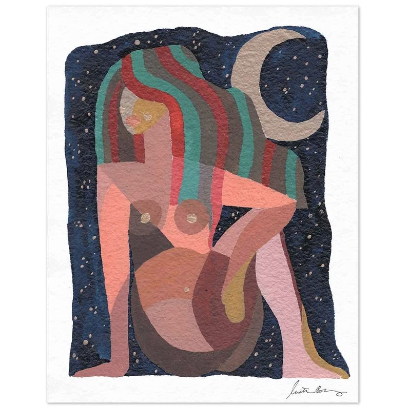 Warm Nights Art Print by Justina Blakeney® 8 x 10 print $40.00 https://www.jungalow.com/collections/justina-blakeney/products/warm-nights-art-print-by-justina-blakeney?variant=33313327939661