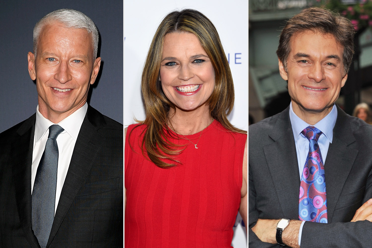 Savannah Guthrie, Anderson Cooper and Dr. Oz