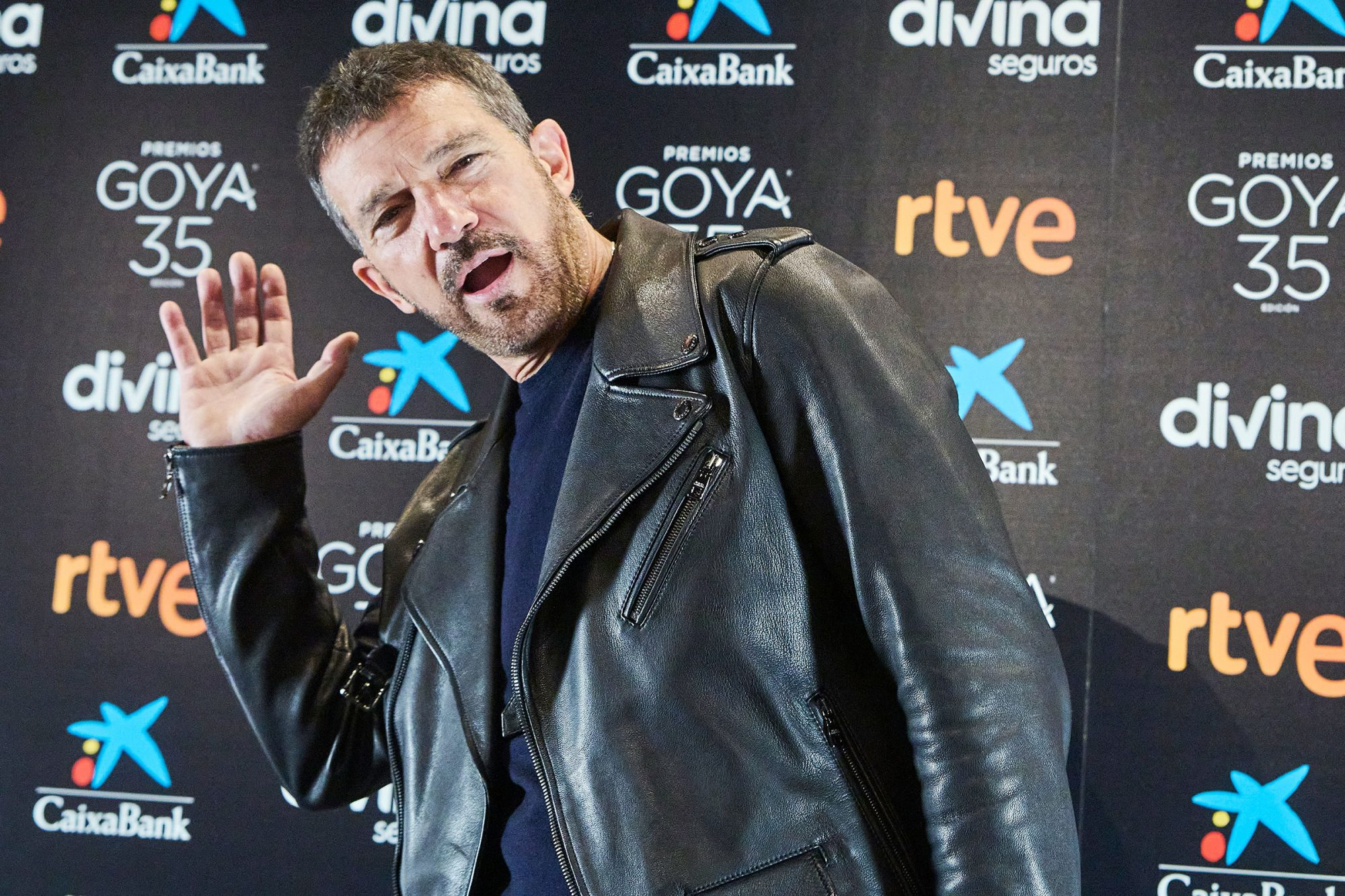 February 2, 2021, Madrid, Spain: Antonio Banderas attends '35th Goya Awards' press conference at Cinema Academy on February 2, 2021 in Madrid, Spain