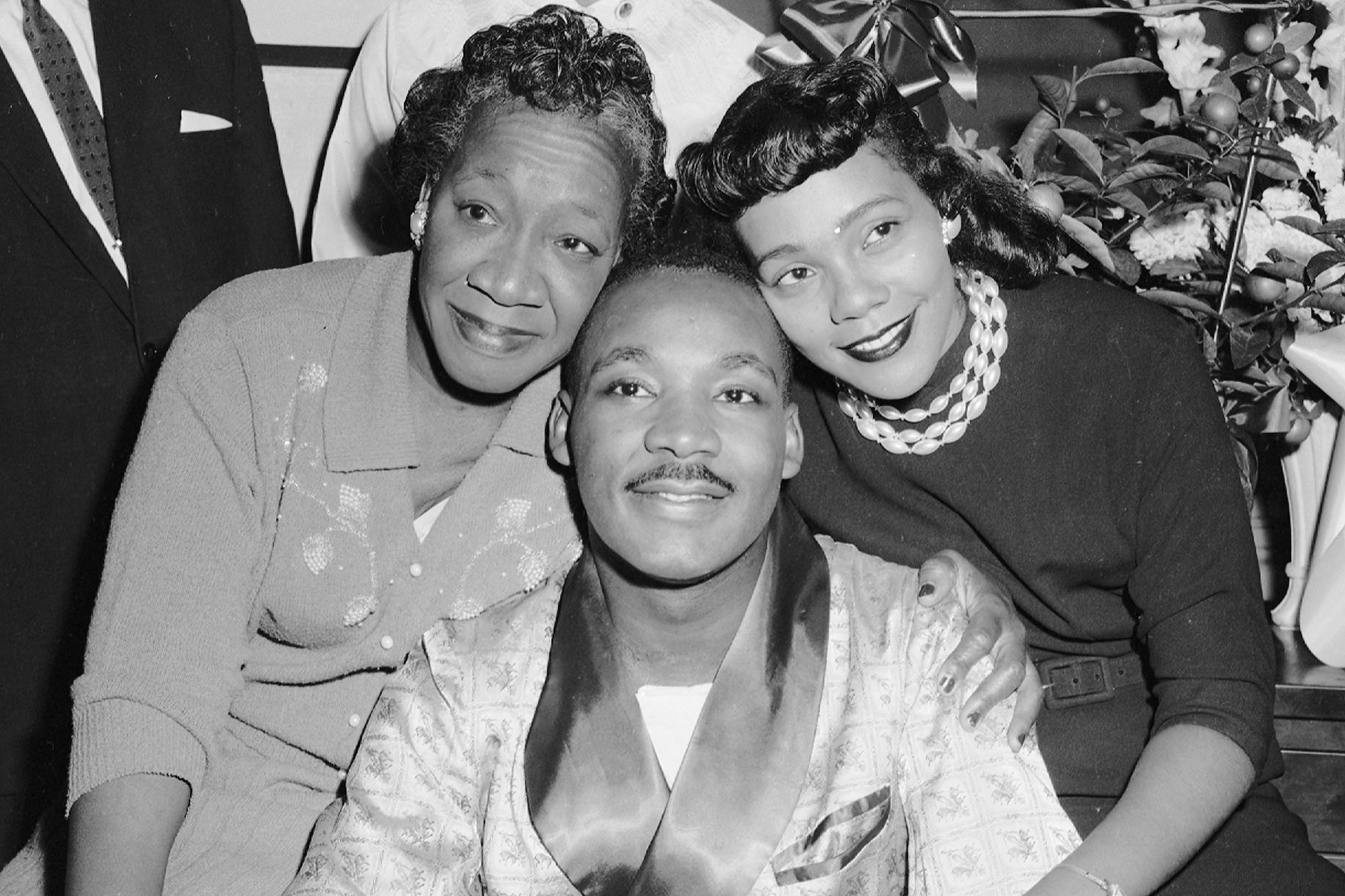 Dr. Martin Luther King with his mother and his wife, Coretta