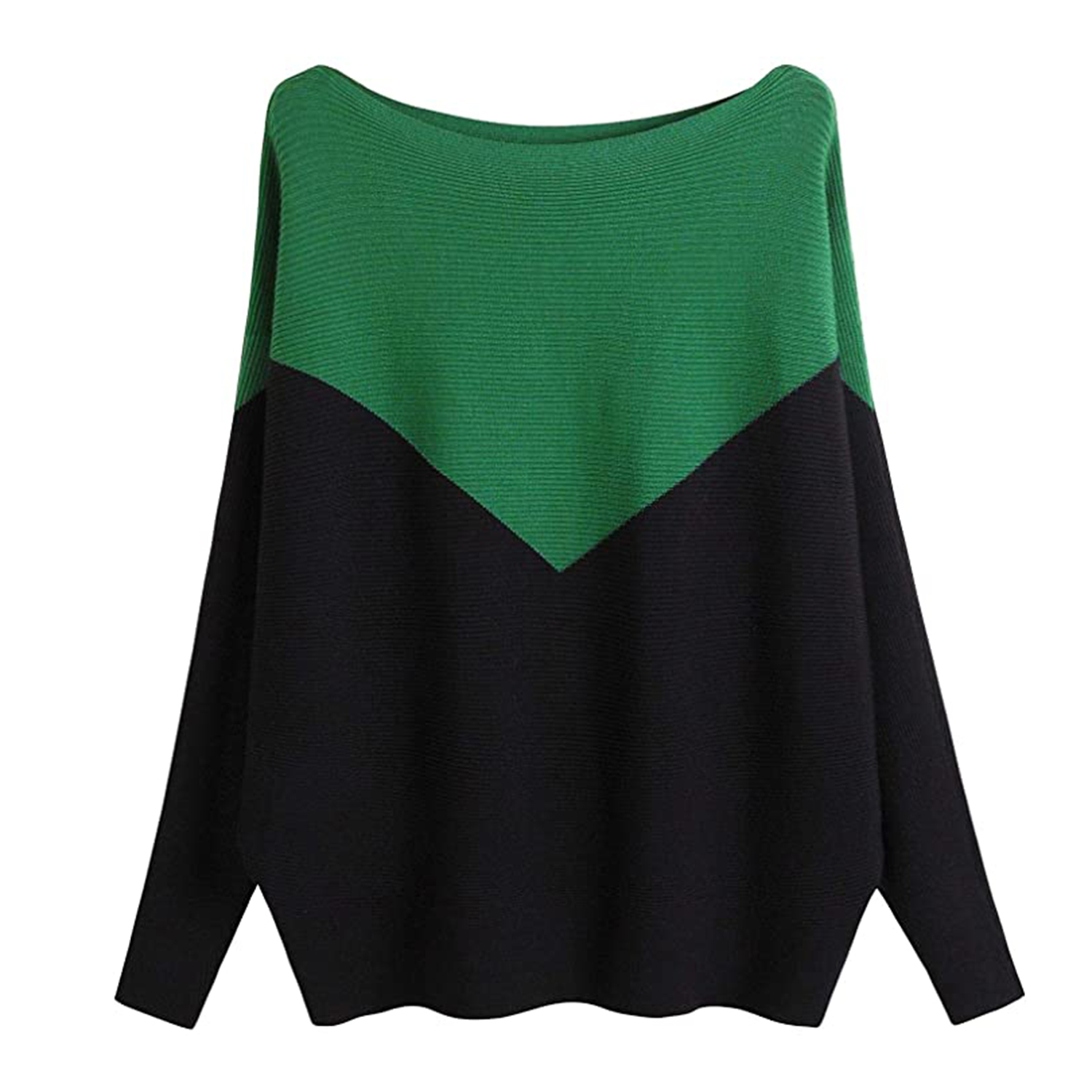 MAKARTHY Women's Batwing Sleeves Knitted Dolman Sweaters Pullovers Tops
