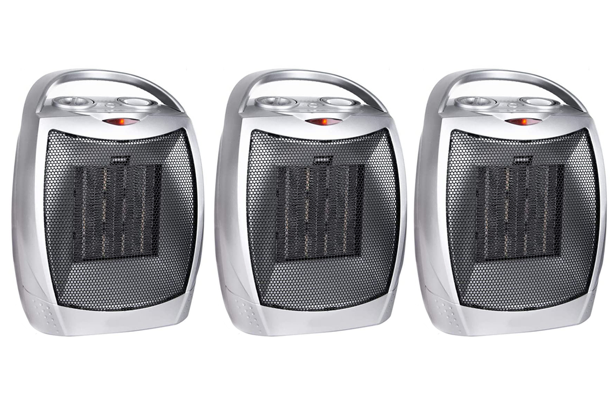Portable Electric Space Heater with Thermostat