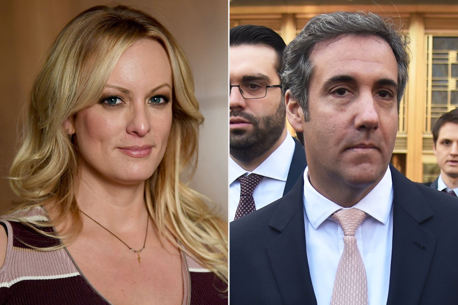 stormy Daniels and Michael cohen
