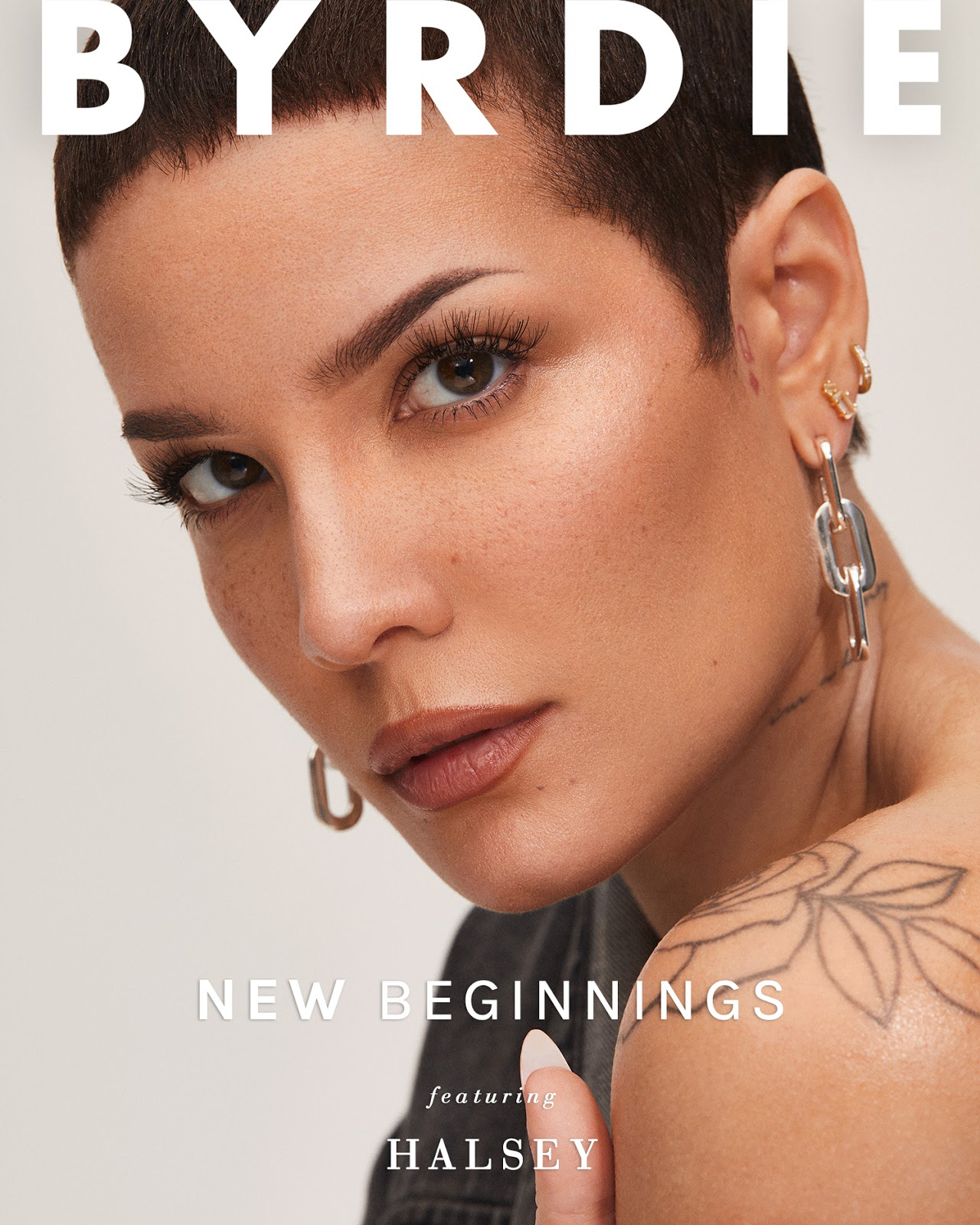 Halsey on the cover of Byrdie's Winter Digital Issue