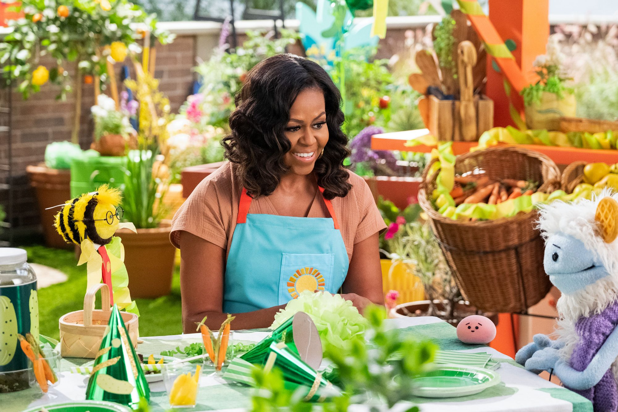 Image result for michele obama and new kitchen show