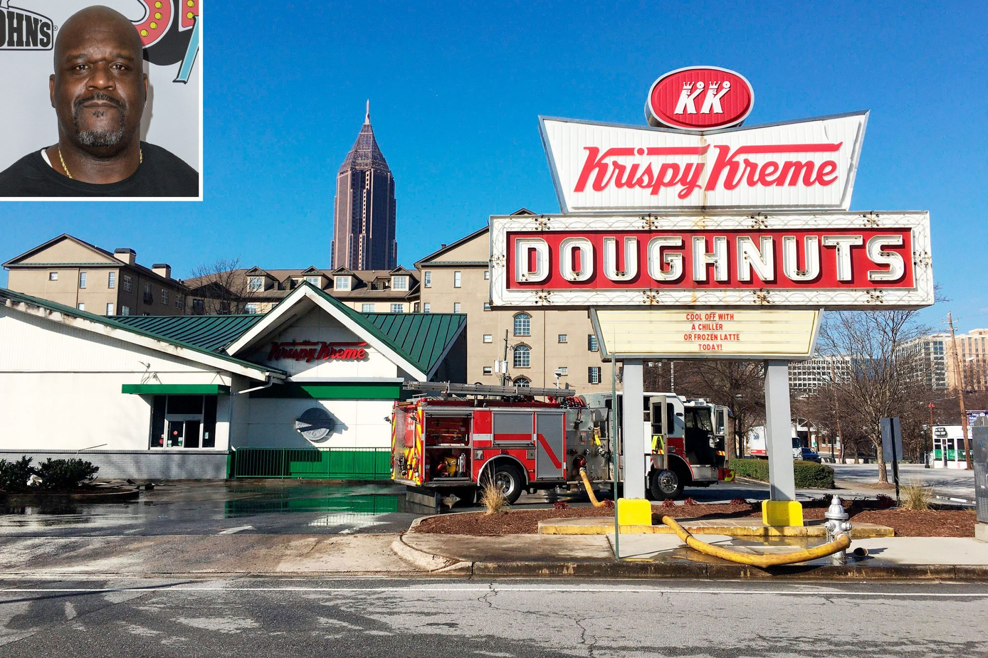 Krispy Kreme Doughnuts fire destroys iconic eatery owned by Shaquille O'Neal