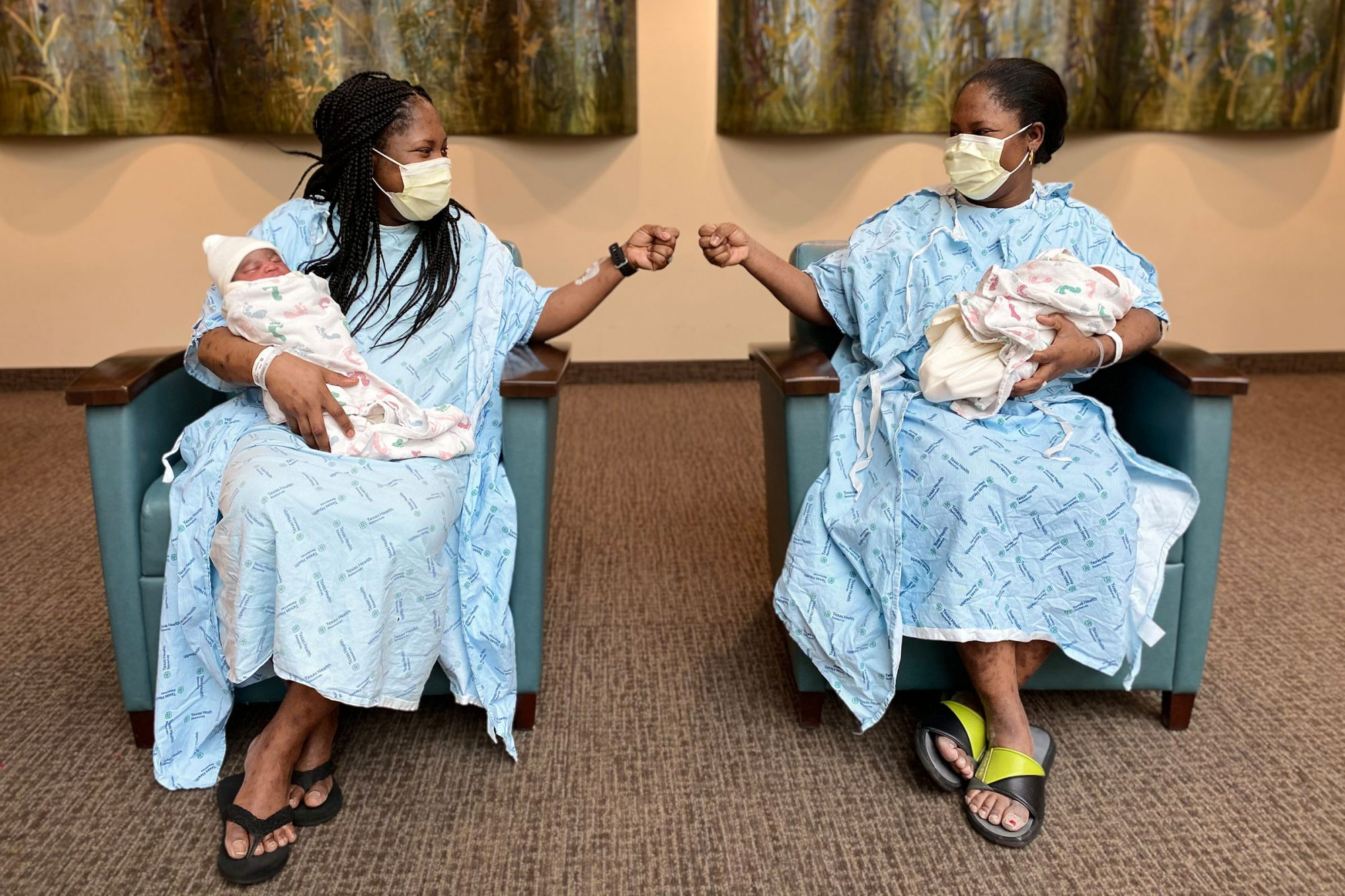 Identical Twin Sisters Give Birth Just 48 Hours Apart at Same Texas Hospital