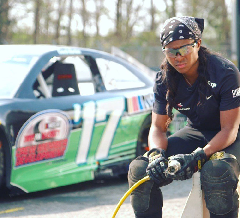 Brehanna Daniels Is Making History as NASCAR's First Black Female Tire Changer
