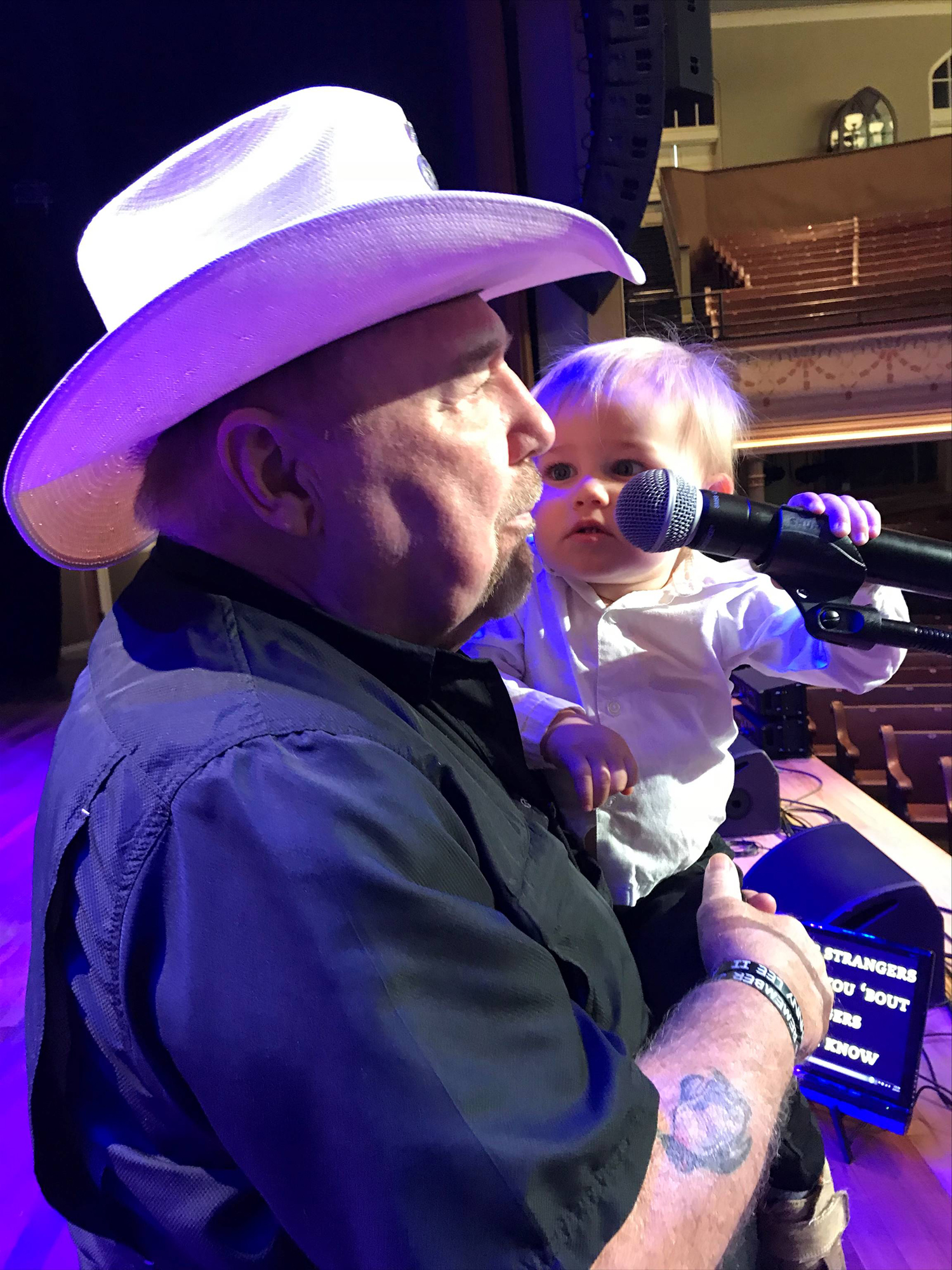 Johnny Lee with his grandson