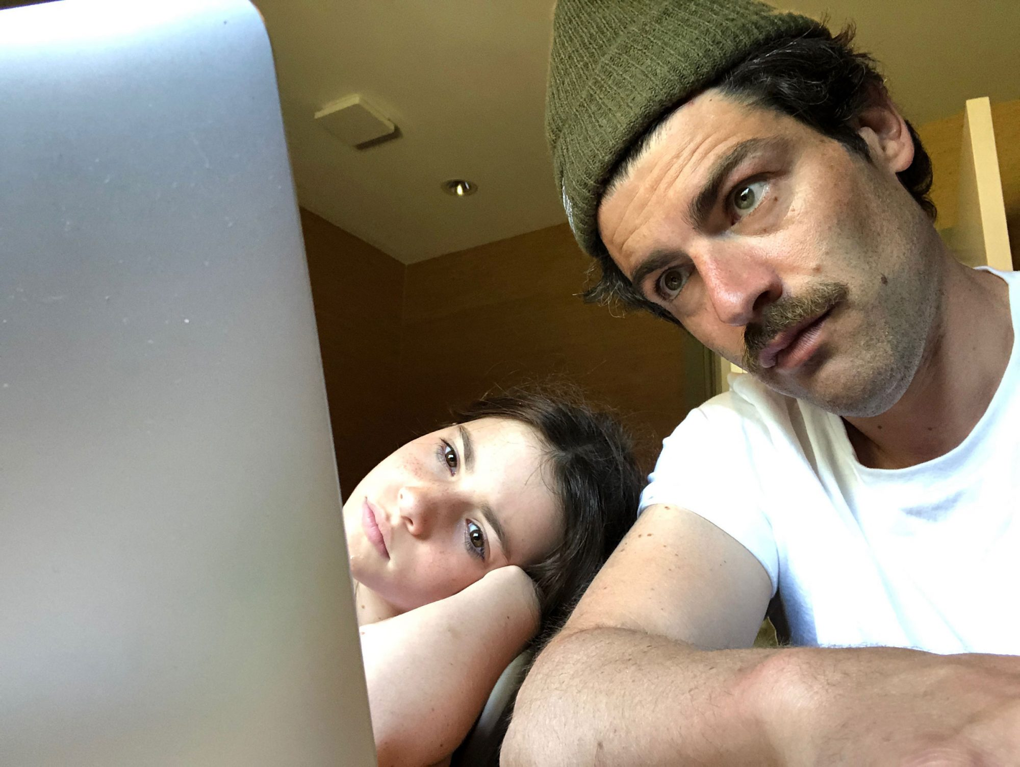 Max Greenfield and daughter