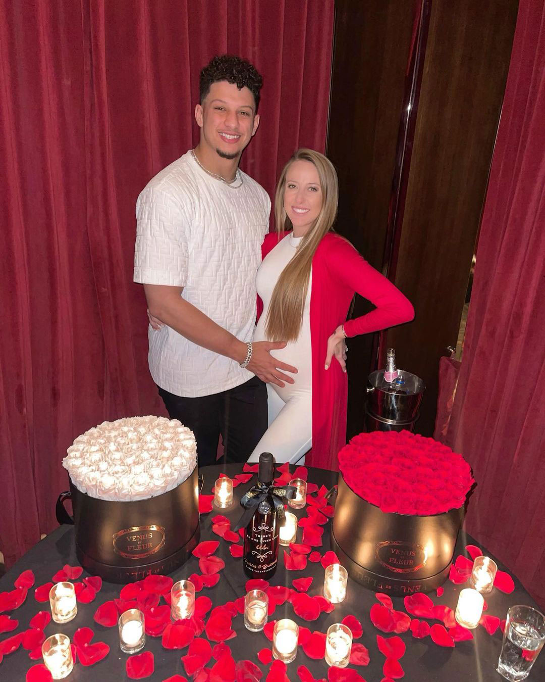 Pregnant Brittany Matthews Shares Sweet Photo with Patrick Mahomes from Valentine's Dinner
