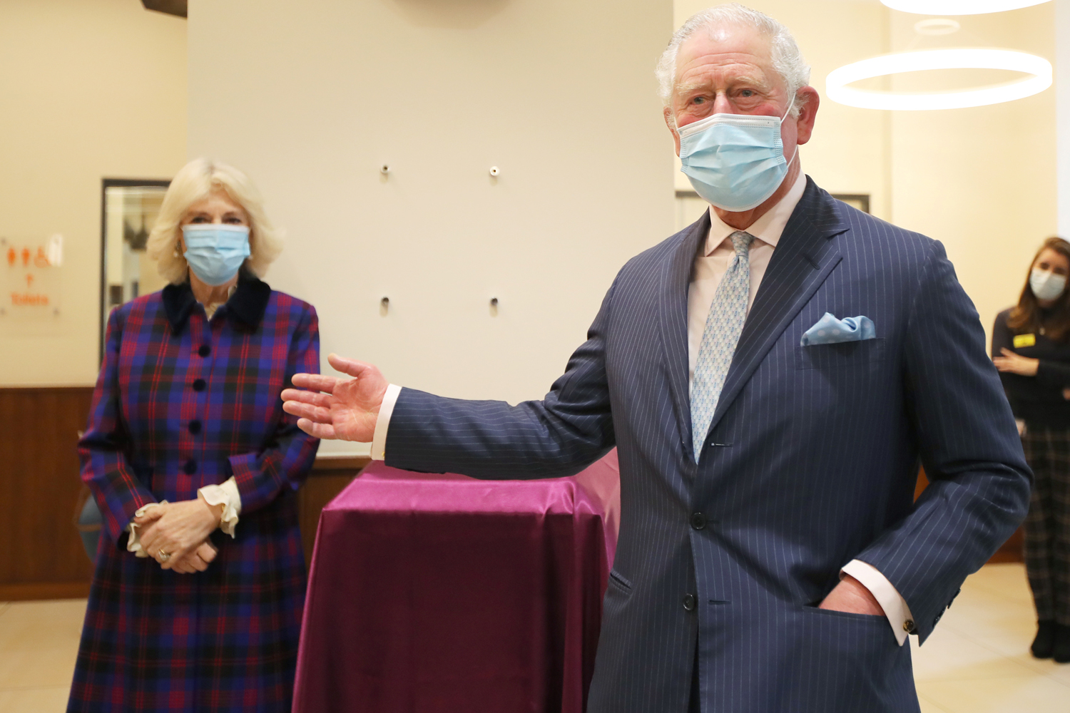 Prince Charles, Prince of Wales and Camilla, Duchess of Cornwall visit The Queen Elizabeth Hospital