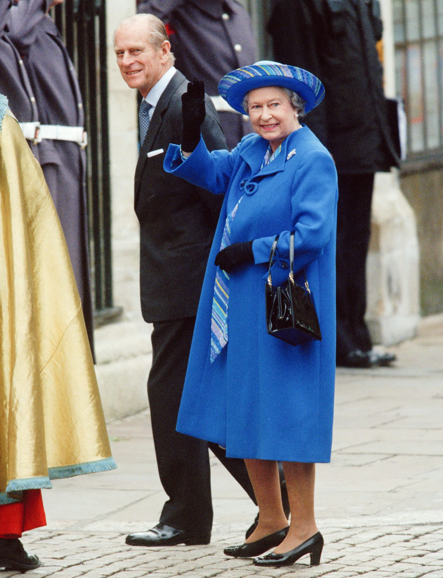 Queen Elizabeth II and Prince Philip, Duke of Edinburgh on the day of their 50th wedding anniversary in Westminster, London, UK, 20th November 1997