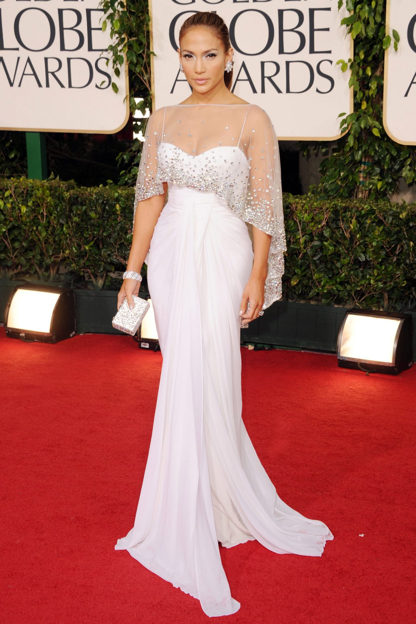 Jennifer Lopez arrives at the 68th Annual Golden Globe Awards held at The Beverly Hilton hotel on January 16, 2011