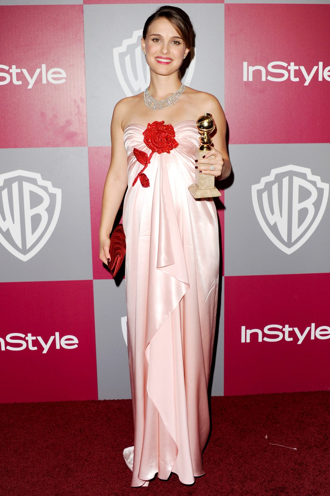 Natalie Portman arrives at the 2011 InStyle/Warner Brothers Golden Globes Party at The Beverly Hilton hotel