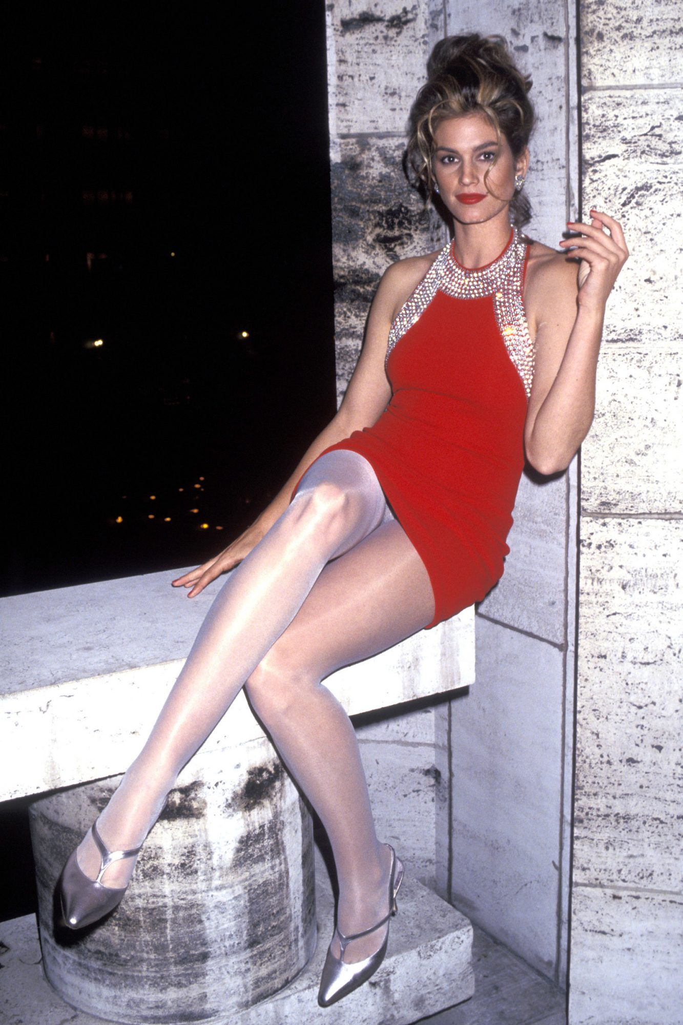 Cindy Crawford during Revlon Unforgettable Women - August 19, 1991 at Lincoln Center in New York City, NY, United States