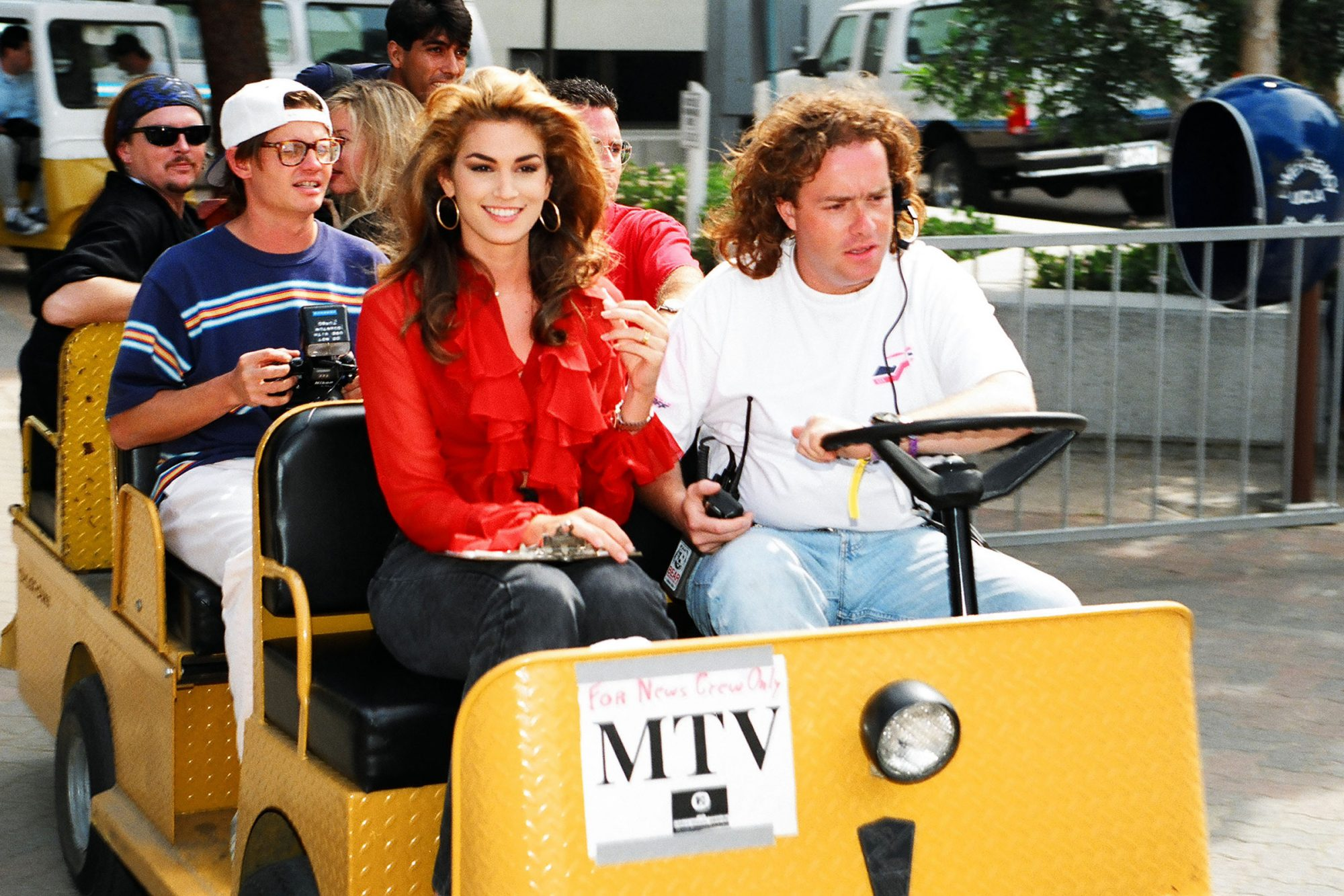 Cindy Crawford during 1992 MTV Video Music Awards in Los Angeles, California, United States
