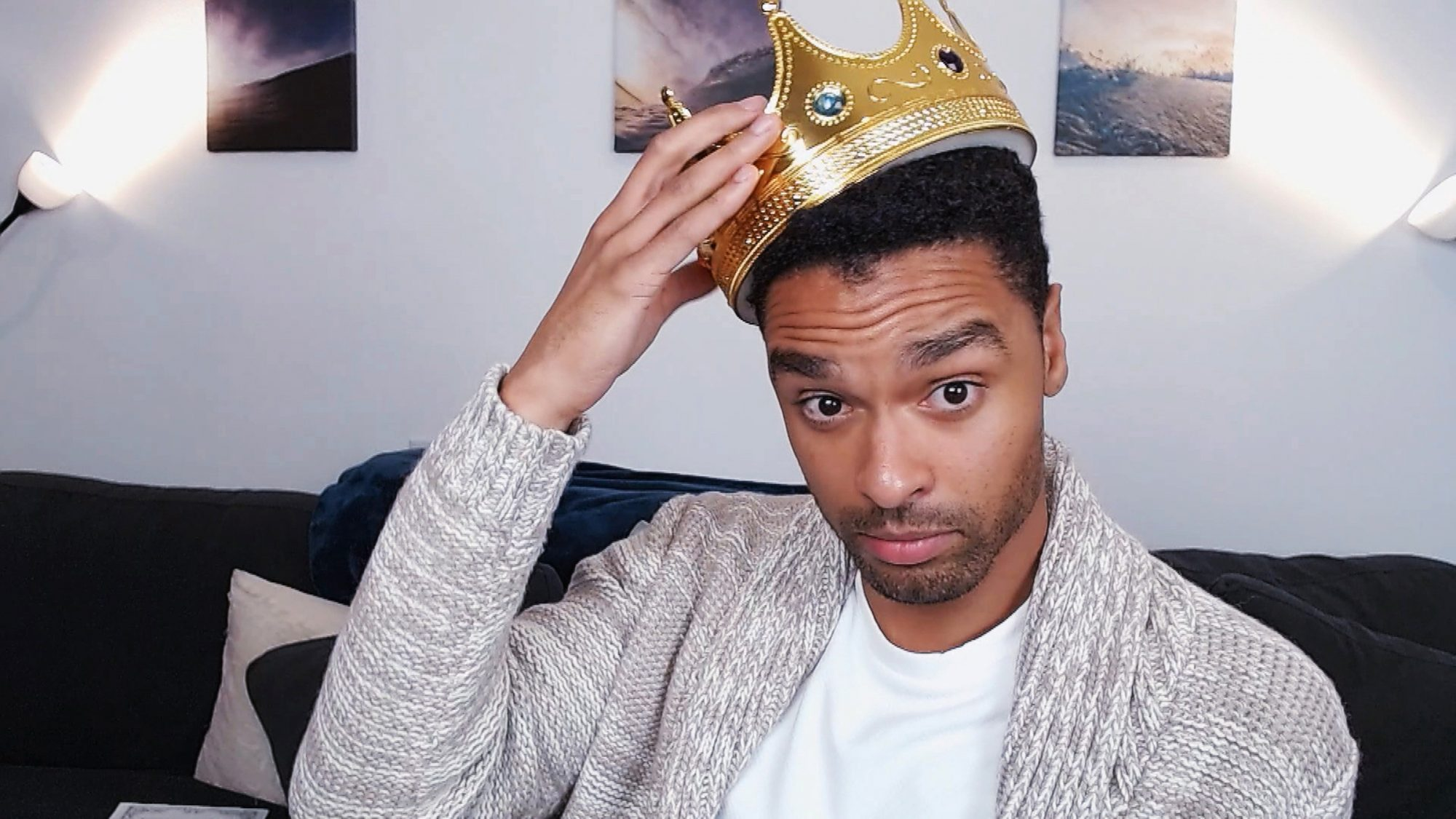 Regé-Jean Page plays Prince Charming during the Cinderella: A Comic Relief Pantomime for Christmas