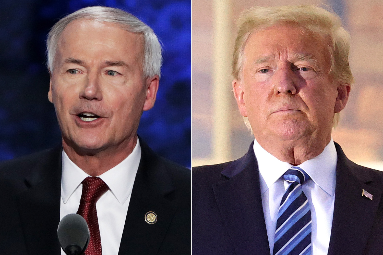 Asa Hutchinson, Donald Trump