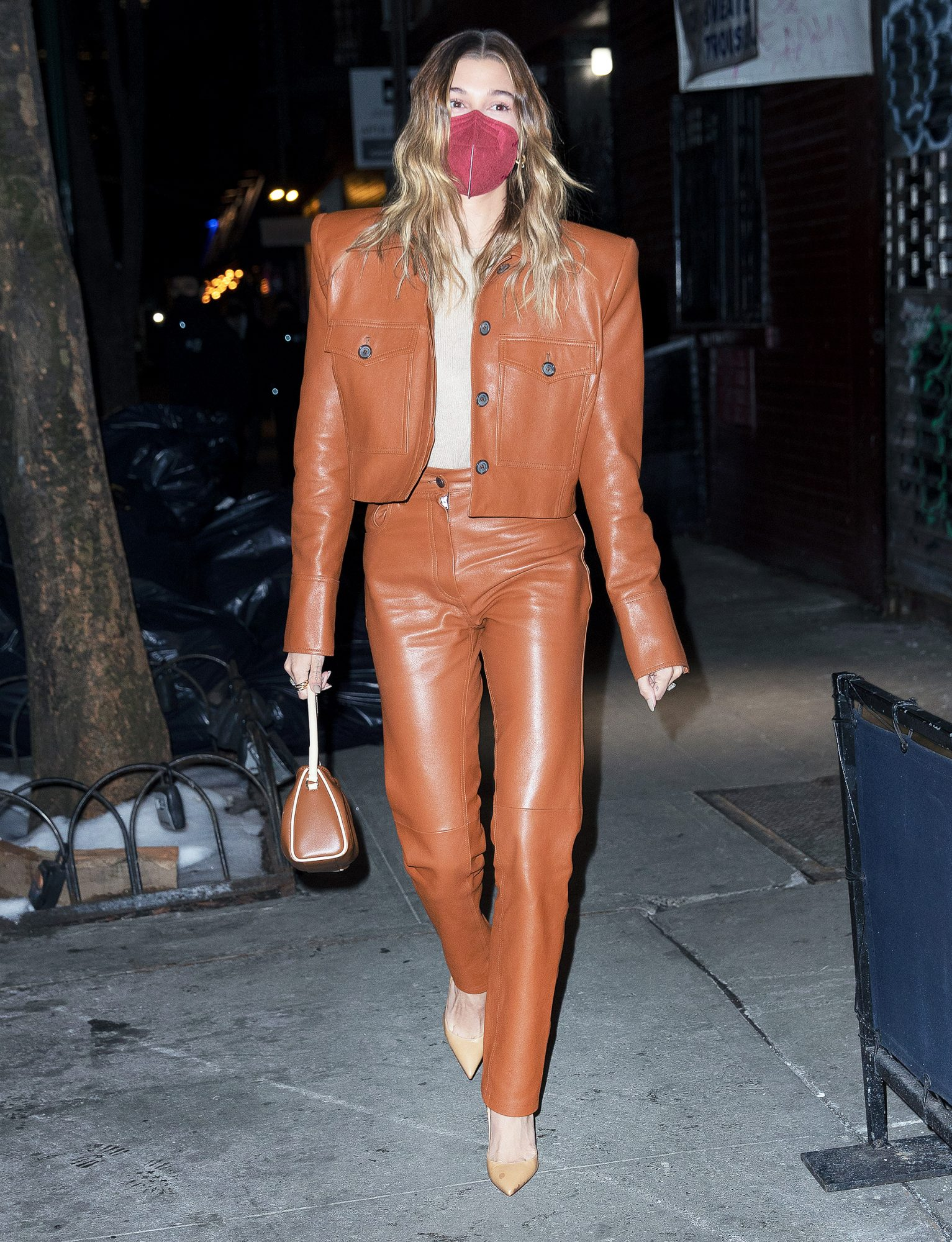 Hailey Bieber Goes For Dinner With Justine Skye In NYC
