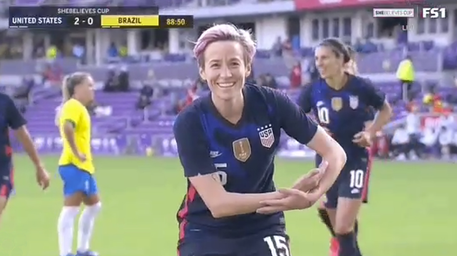 Megan Rapinoe Gives Shout-Out To Ashlyn Harris and Ali Krieger's Baby Girl After Scoring Goal